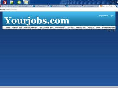 This job portal is a simple job portal like presentjobs.com. just post the job by admin.  and user can search.