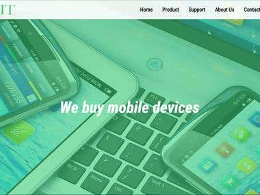 Responsive site using mostyl html and css.