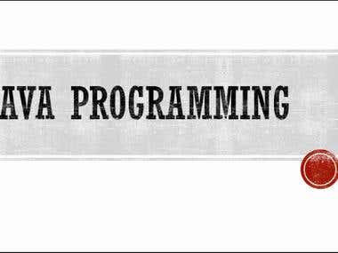 Complete tutorials on Java programming language. Introductory concepts about all basic topics  of Java programming. Very simple and helpful for learning java programming with simple examples.