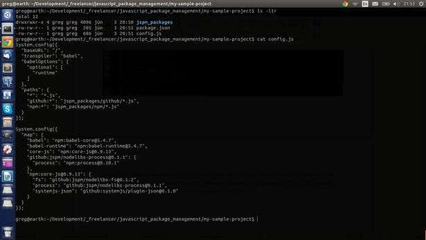 generated packages.json