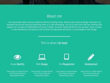 Create portfolio website.