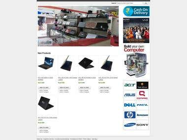We have developed e-commerce website for our client Micro Computers Laptop Bazaar Rourkela. The site is based on Magento e-commerce platform. We have not only designed the website, but added several add on to the website to  really make a useful one. We have also linked the website to the skrill payment gateway.  We have also set the shipping charges based on destination and weight. We have added many other features our client requested us. for example they wanted a offer logo to appear in every listing wherever there is an special offer on the product in the category listing.  They also wanted us to rank their website on first page on google on various key words, which also we have successfully done for them.