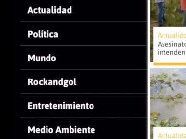 App with a radio player and for reading news, also you can send voice records to the Radio Station. It includes authorization.