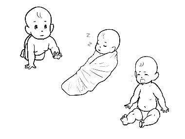 Vectorized baby sketches for VideoScribe video