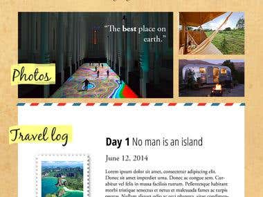 Basic Wordpress for a blog and travel site for an older couple. PDF to Wordpress.  http://going-mobile.ca