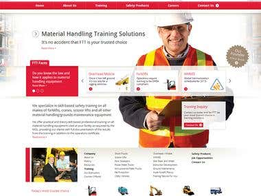 MATERIAL HANDLING TRAINING SOLUTIONS website build using HTML, CSS, jQuery in fronend UI and on the backend PHP, MySQL, Ajax.