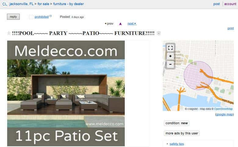 Craigslist Jacksonville Fl Patio Furniture - Patio Ideas