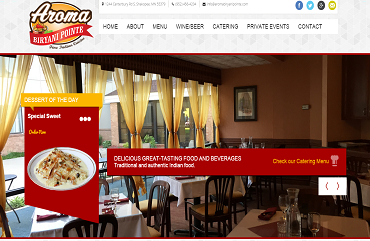 Ewebprovider web developer india freelancer for Aroma fine indian cuisine