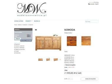 """Prestashop based online furniture shop """"modelowewnetrze.pl"""""""