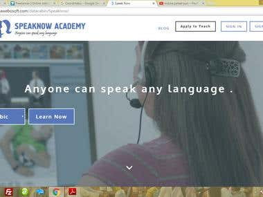 IT's a E-learning language portal with following features : E Learning Management System  Blog For trainers  Trainers Panel  Learner Panel  Forum  User Management  Audio/Video Streaming  One-to-one Message  http://ayodhyawebosoft.com/datacabin/Speaknow/