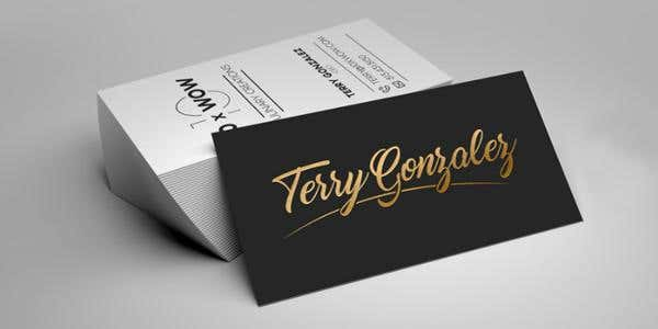 Typography design for modern business card