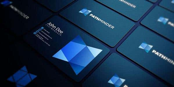 Rounded corners design for modern business card