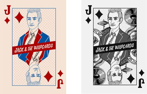 Playing card design for modern business card