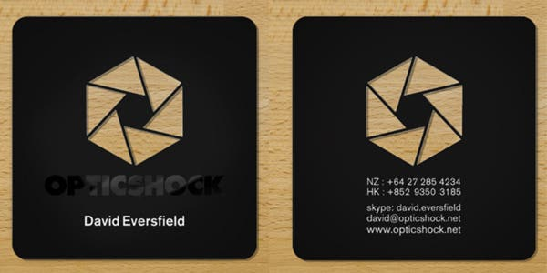 Icon design for modern business card
