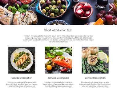 Healty Food Website
