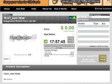 SpeedClik.com is a penny auction website.