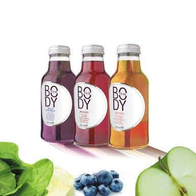Organic drink Logo and labels