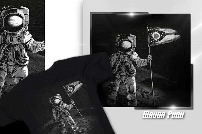 Astronaut t-shirt design idea