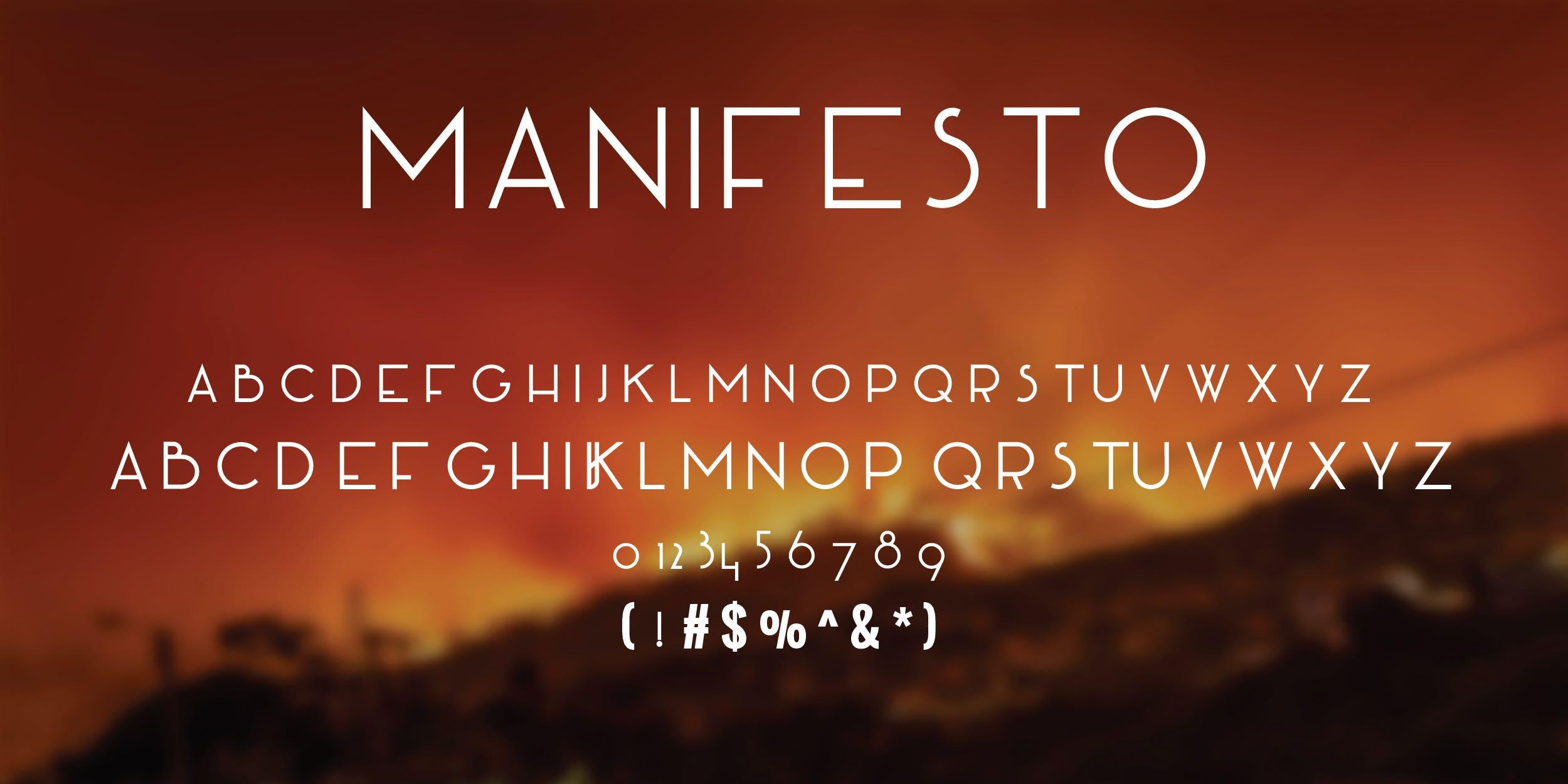 Manifesto Free Font