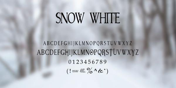 Snow White Free Font