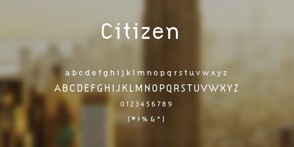 Citizen Free Font