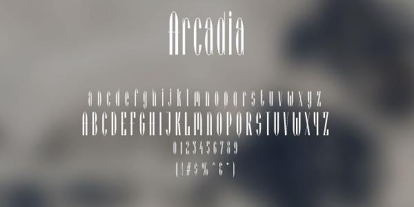 Arcadia Free Font