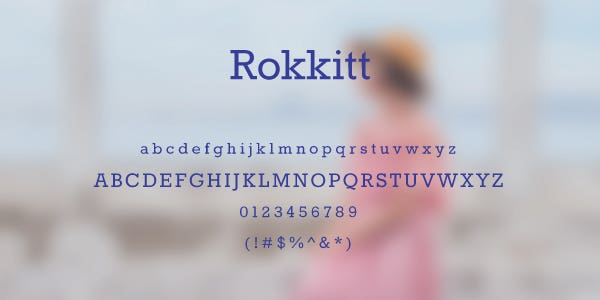 Rokkitt Free Font