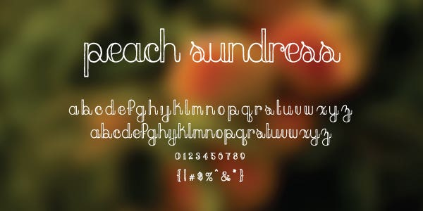 Peach Sundress Free Font