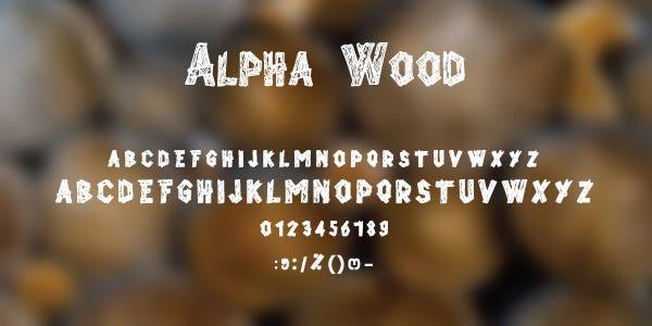Alpha Wood Free Font
