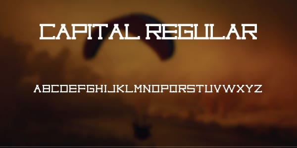 Capital Regular Free Font