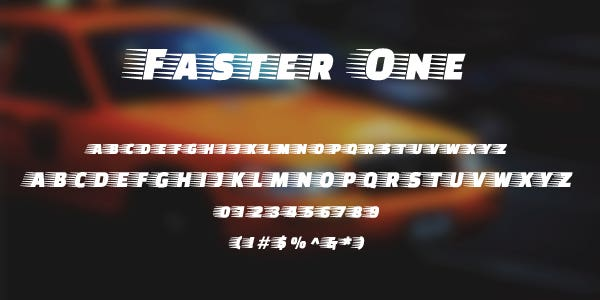 Faster One Free Font