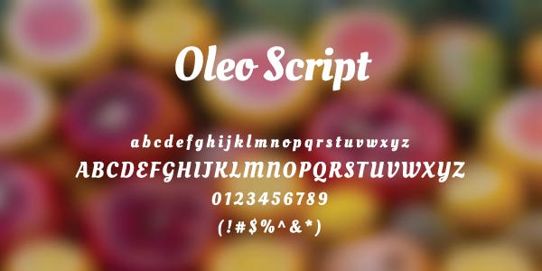 Oleo Script Free Font