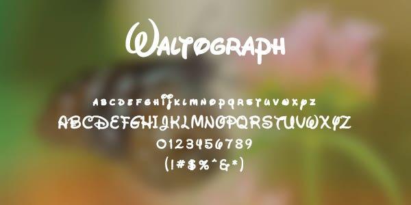 Waltograph Free Font