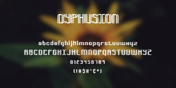 Dyphusion Free Font