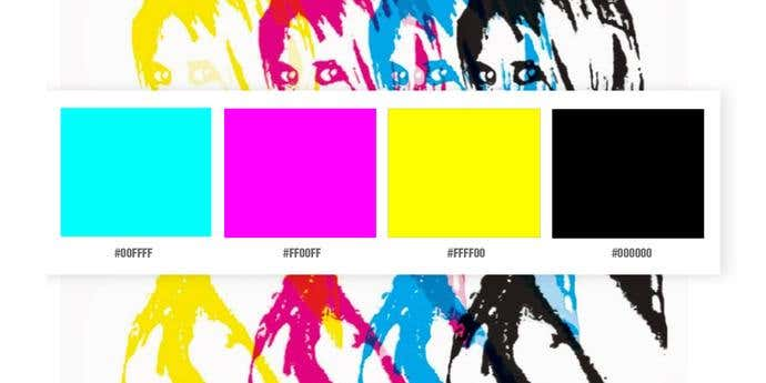 CMYK and White Color Palette
