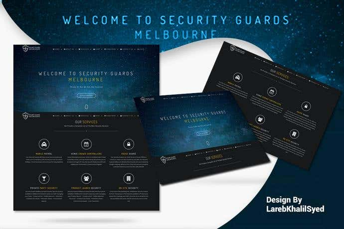 Best business homepage design for Security Guards Melbourne