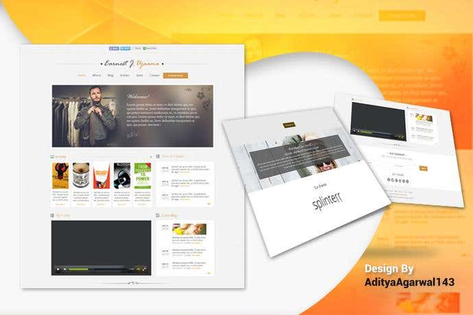 Best blog homepage design for Earnest J. Ujaama