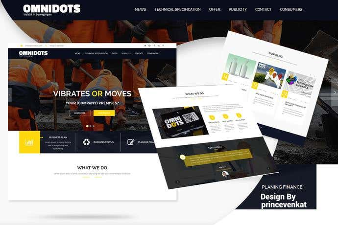 Best business homepage design for Omnidots
