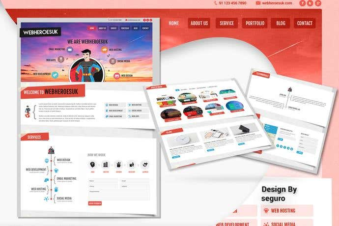 Best Wordpress homepage design for WebHeroesUK