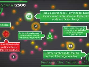 The Factor Fury WebGL Game allows users to improve their mathematics skills while playing the game. It uses Unity3D.