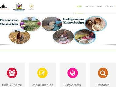A responsive website for Preserve Namibia Indigenous Knowledge Project.