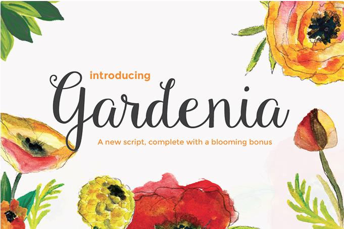 Gardenia free cursive font