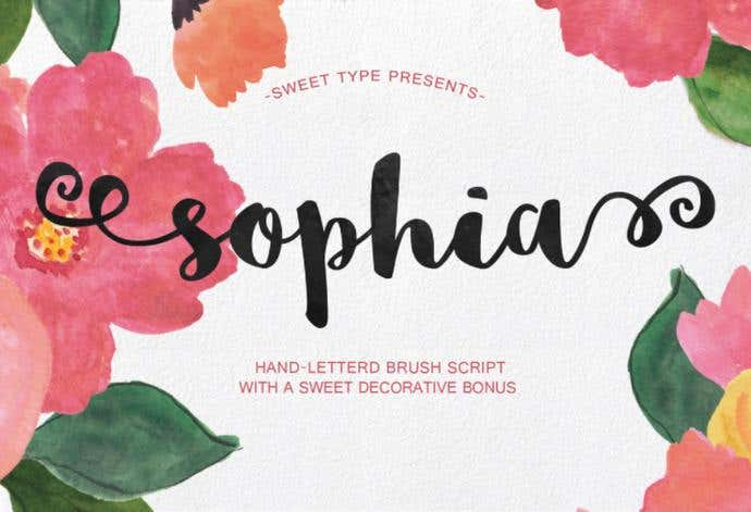 Sophia free cursive font