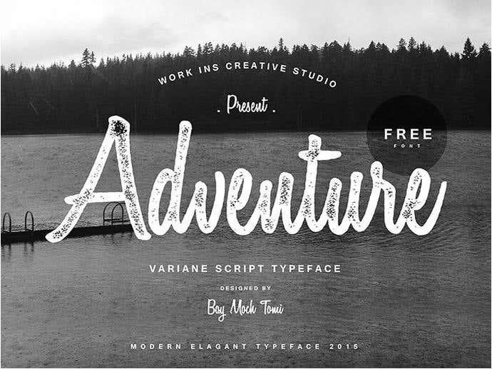 Variane Free Cursive Font