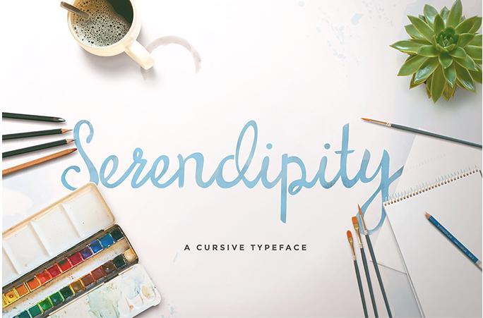 Serendipity free cursive font