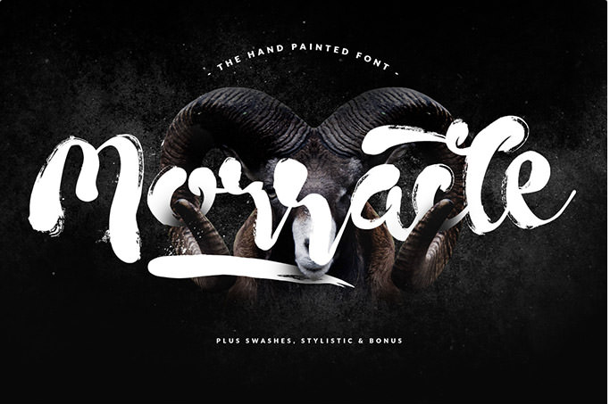 Morracle free cursive font