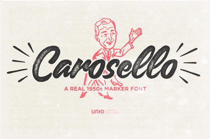 Carosello free cursive font