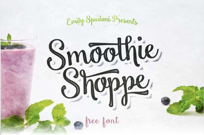 Smoothie Shoppe free cursive font