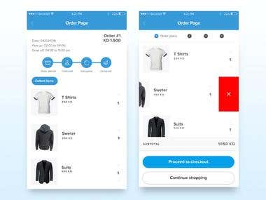 Design and development of a cleaning services application for IOS and Android.