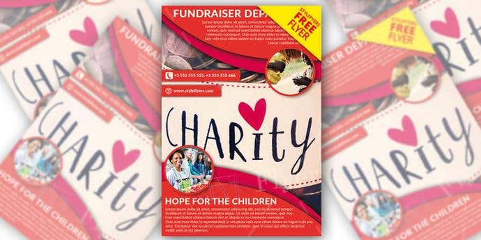 Free fundraiser poster template